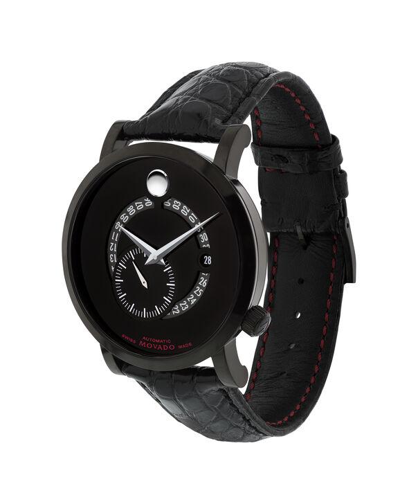MOVADO 瑞红 (Red Label)0606485 – 男士42毫米自动机械日历皮带腕表 - 侧面图