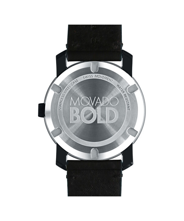 MOVADO 摩凡陀波特 (Movado Bold)3600317 – 42毫米科罗拉多皮带款 - 后视图