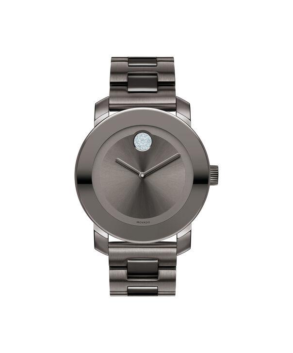 摩凡陀|摩凡陀波特中号灰色镀离子不锈钢腕表,配水晶