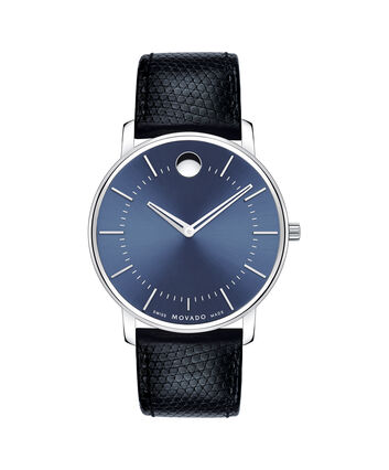 MOVADO Movado Thin Classic0606846 – Men's thin 40 mm strap watch - Front view
