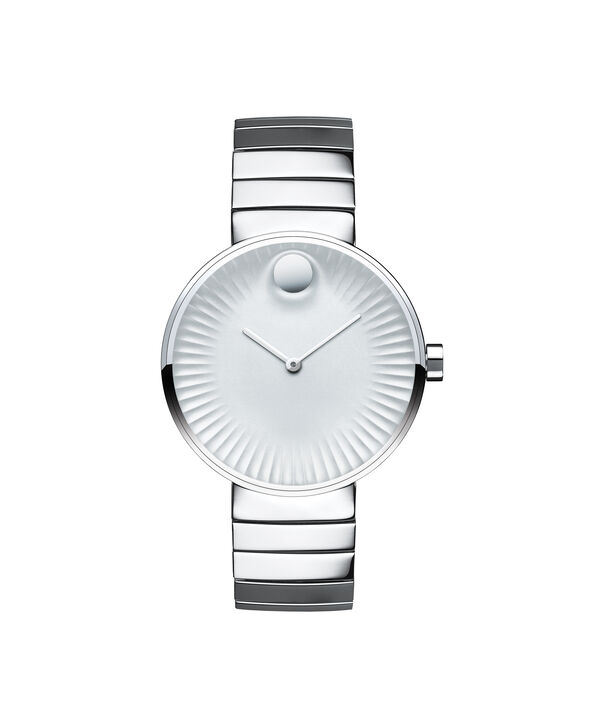 Movado | Movado Edge women's mid-size stainless steel watch with silver-toned dial