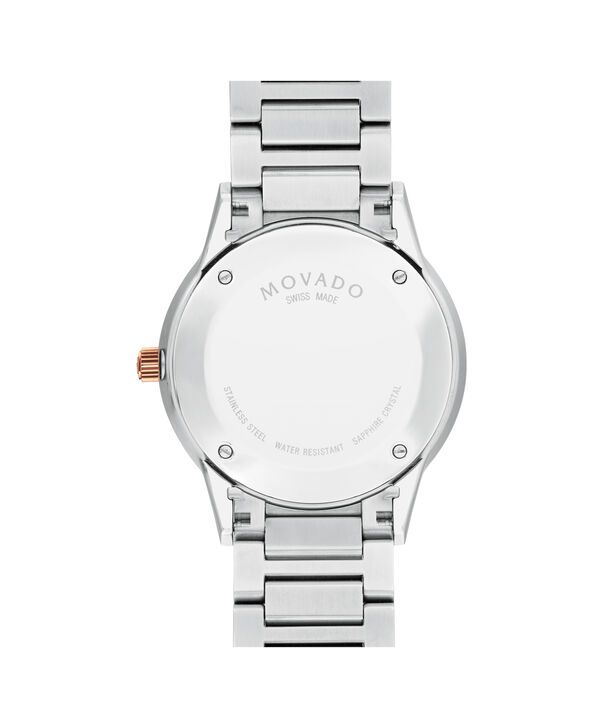 MOVADO Modern Classic0607133 – Men's 39.5 mm automatic 3-hand - Back view