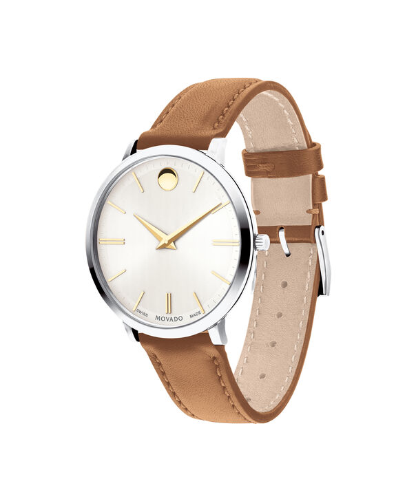 MOVADO Movado Ultra Slim0607371 – 35mm Ultra Slim Leather Strap - Side view