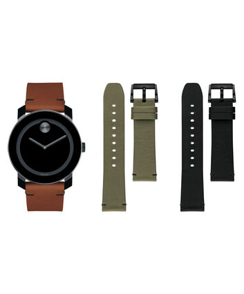 MOVADO Movado Bold3600600 – 42mm BOLD 2H TR90 Strap Gift Set - Front view