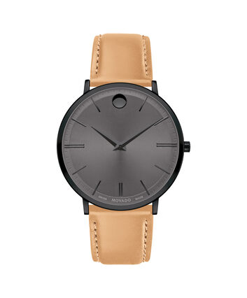 MOVADO Movado Ultra Slim0607378 – Movado Ultra Slim 40mm Leather Strap - 正视图