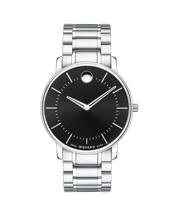 MOVADO Movado Thin Classic0606687 – Men's thin 40 mm bracelet watch - Front view
