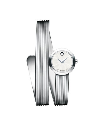 MOVADO Museum Wrap0606805 – Women's 20 mm hinged bangle watch - Front view