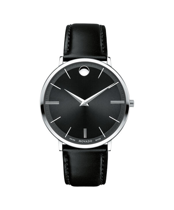Movado | Movado Ultra Slim Men's Large Stainless steel watch with Black dial