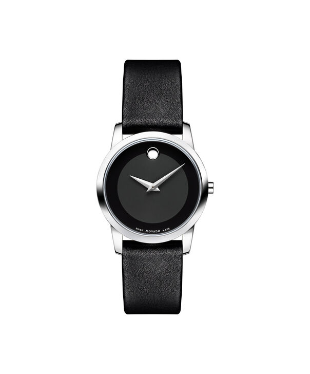 Movado | Museum Women's Stainless Steel Watch With Black Strap