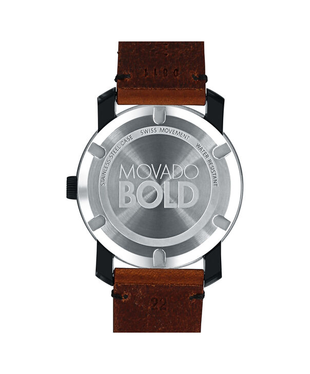 MOVADO 摩凡陀波特 (Movado Bold)3600305 – 42毫米科罗拉多皮带款 - 后视图