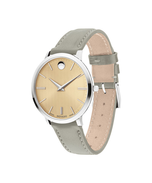 MOVADO Movado Ultra Slim0607372 – 35mm Ultra Slim Leather Strap - Side view