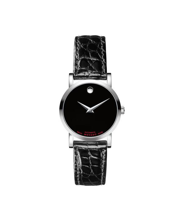 摩凡陀   瑞红女士不锈钢自动机械腕表,鳄鱼皮表带