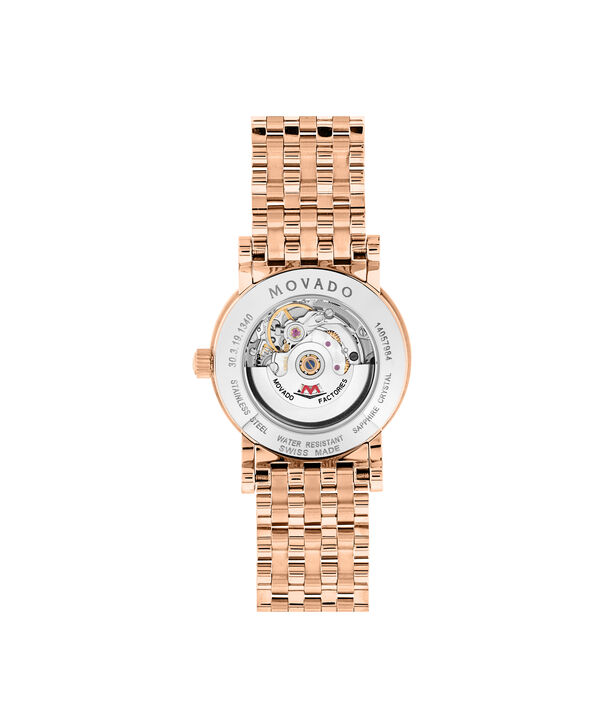 MOVADO 瑞红 (Red Label)0607064 – Women's 26 mm automatic bracelet watch - 后视图