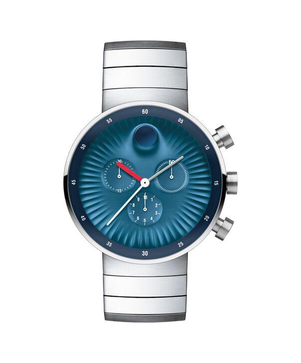 摩凡陀 | 男士摩凡陀Edge大号不锈钢腕表,蓝色铝质表盘