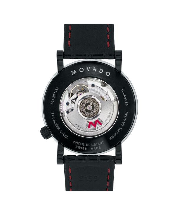 MOVADO 瑞红 (Red Label)0606485 – 男士42毫米自动机械日历皮带腕表 - 后视图