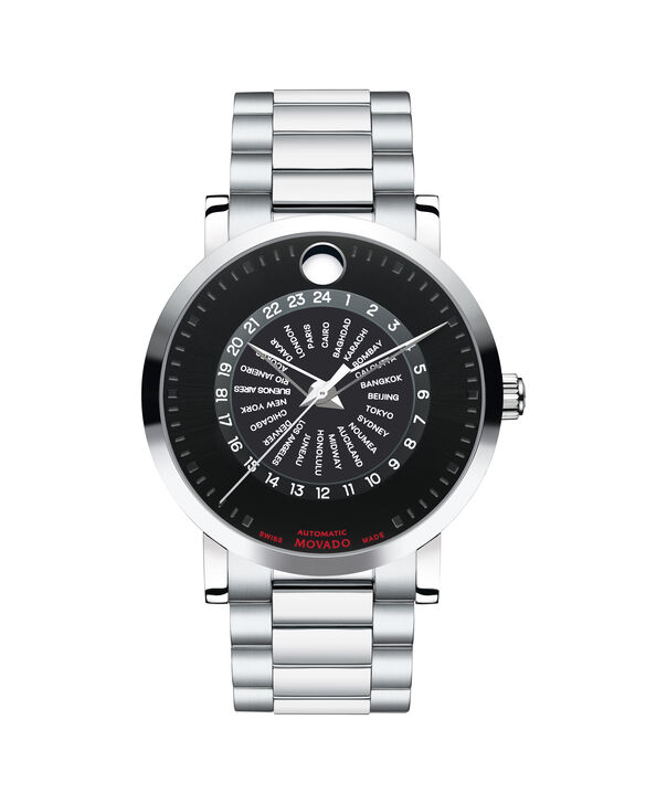 Movado | Red Label Men's Stainless Steel Calendomatic Automatic Bracelet Watch
