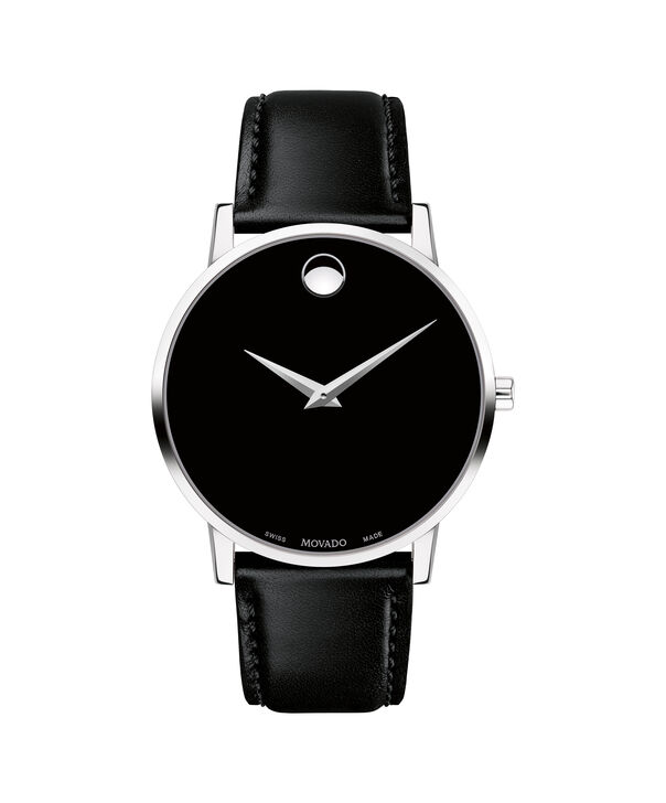 Movado | Museum Classic Men's Stainless Steel Watch With Black Strap