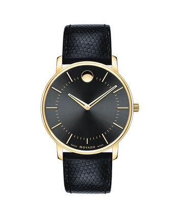 MOVADO Movado Thin Classic0606847 – Men's thin 40 mm strap watch - Front view