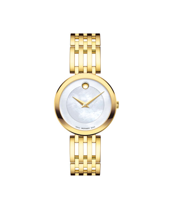摩凡陀|爱莎女士金色腕表,珍珠母贝表盘