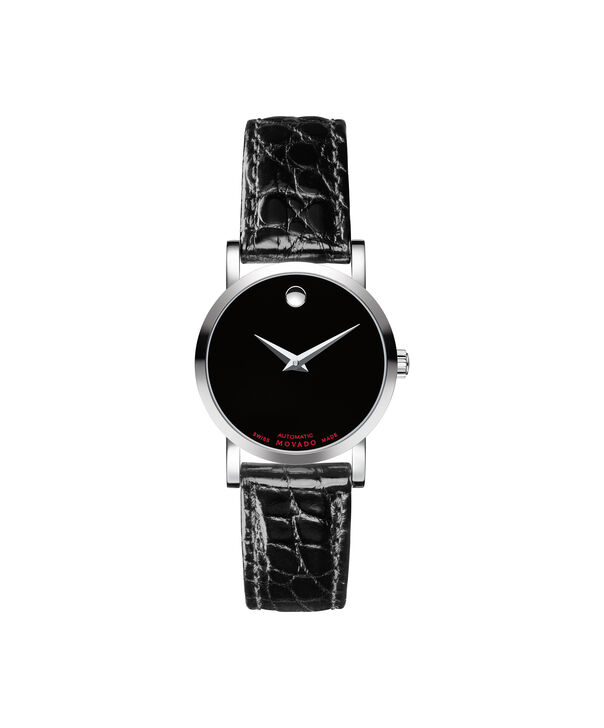 Movado | Red Label Women's Stainless Steel Automatic Watch with Aligator Strap