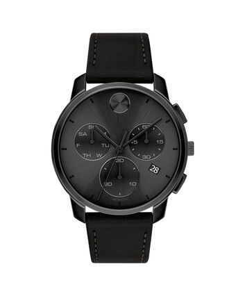 MOVADO Movado BOLD3600632 – 42mm Movado BOLD Thin Chronograph on Strap - Front view