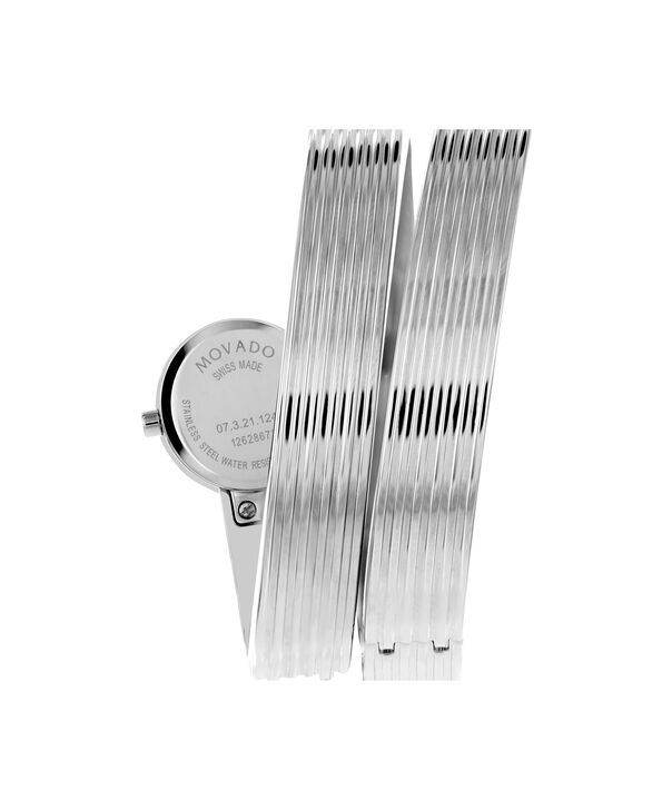 MOVADO 博物馆手镯表 (Museum Wrap)0606805 – 女士20毫米手镯表 - 后视图