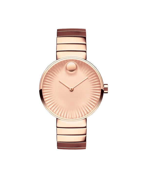 Movado | Movado Edge women's mid-size rose gold PVD-finished stainless steel watch with rose gold-toned dial