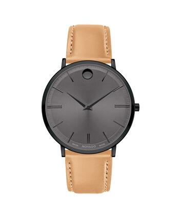 MOVADO Movado Ultra Slim0607378 – Movado Ultra Slim 40mm Leather Strap - 正视图