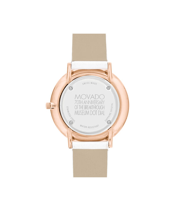 MOVADO 70th Anniversary0607139 – Mid-Size 35 mm strap watch - Back view