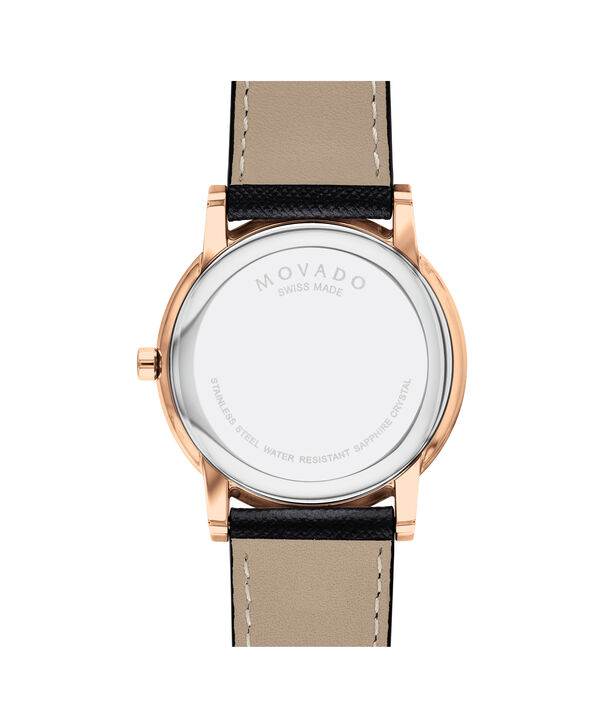 MOVADO Museum Classic0607196 – Men's 40 mm strap watch - Back view