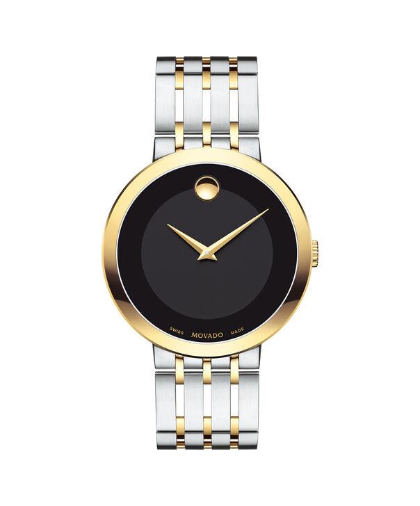 摩凡陀|爱莎男士间金腕表,黑色表盘