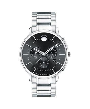 MOVADO Movado Thin Classic0606886 – Men's thin 44 mm bracelet chrono - Front view