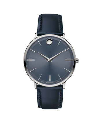 MOVADO Movado Ultra Slim0607400 – 40mm Movado Ultra Slim on Strap - Front view