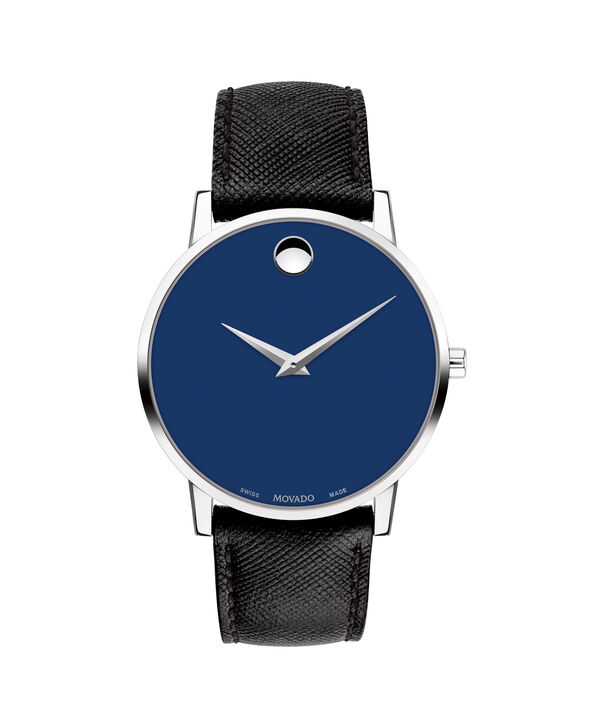 08dcd03d9 Movado | Museum Classic Men's Stainless Steel Watch With Black Strap ...