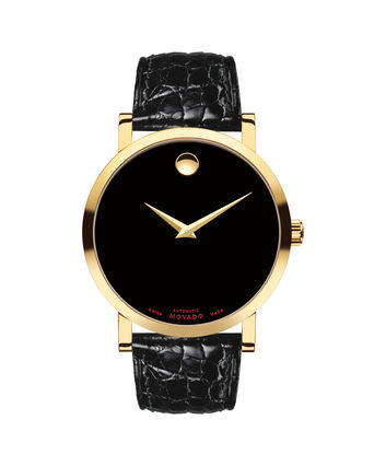 MOVADO Red Label0607007 – Men's 42 mm automatic strap watch - Front view