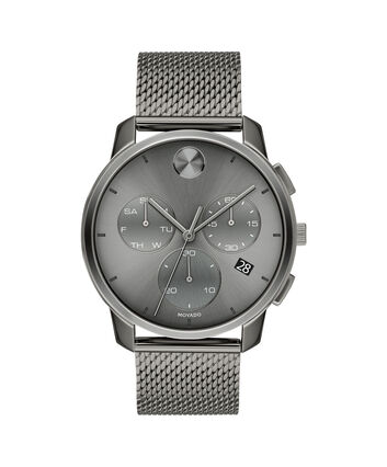 MOVADO Movado BOLD3600635 – 42mm Movado BOLD Thin Chronograph on Mesh - Front view