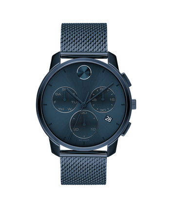 MOVADO Movado BOLD3600633 – 42mm Movado BOLD Thin Chronograph on Mesh - Front view